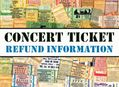Concert Ticket Refund Information for Amoeba Hollywood