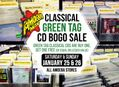 Green Tag Classical CD BOGO Sale at Our Stores January 25-26