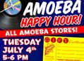 Happy Hour Gift Certificate Sale at Our Stores Tuesday, July 4th
