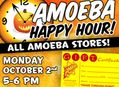 Happy Hour Gift Certificate Sale at Our Stores Monday, October 2nd