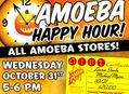 Happy Hour Gift Certificate Sale at Our Stores on October 31st
