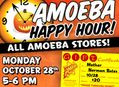 Happy Hour Gift Certificate Sale at Our Stores October 28