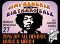 20% Off All Jimi Hendrix Music & Merch at Our Stores November 27