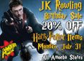 20% Off Harry Potter Items at our Stores Monday, July 31st