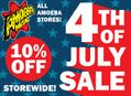 10% Off Sale at Our Stores for 4th of July