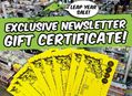 Exclusive Amoeba Email Newsletter Gift Certificate