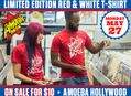 Limited Edition Red & White T-Shirt on Sale at Amoeba Hollywood Monday, May 27