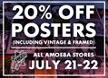 Huge Poster Sale at Our Stores Saturday, July 21 & Sunday, July 22