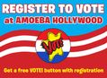 Register to Vote at Amoeba Music Stores