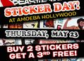 Sticker Day at Amoeba Hollywood Thursday, May 23