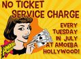 No Ticket Service Fees at Amoeba Hollywood Tuesdays in July