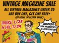 Vintage Magazine BOGO Sale at Amoeba SF & LA January 23-24