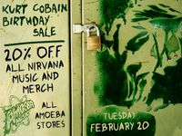 20% Off All Nirvana Music & Merch at Our Stores Tuesday, February 20