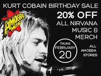 20% Off All Nirvana Music & Merch at Our Stores February 20