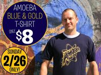New Navy & Gold T-Shirt On Sale at Amoeba Hollywood Sunday, February 26