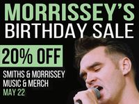 20% Off All Smiths & Morrissey Items at Our Stores May 22nd