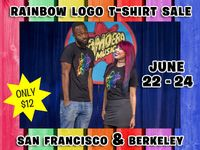 Rainbow Logo T-Shirt Sale at Amoeba Bay Area Stores June 22-24