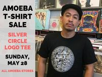 Amoeba Silver Circle Logo T-Shirt on Sale at Our Stores May 28