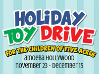 Holiday Toy Drive at Amoeba Hollywood Nov 23 - Dec 15