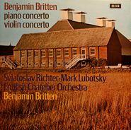 Sviatoslav Richter, Britten: Piano Concerto / Violin Concerto [Import] (LP)