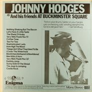 Johnny Hodges, Johnny Hodges and His Friends At Buckminster Square