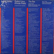 Robert Ashley, Perfect Lives (Private Parts): The Bar (LP)
