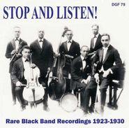 Various Artists, Stop & Listen! Rare Black Band Recordings 1923-1930 (CD)