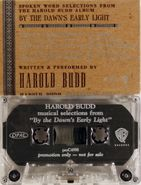 Harold Budd, Selections From By Dawn's Early Light (Cassette)