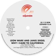 """Leon Ware, Why I Came To California / Can (12"""")"""