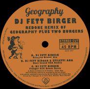 "DJ Fett Burger, Redone Remix Of Geography Plus Two Burgers (12"")"