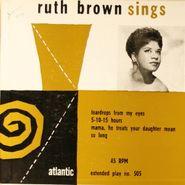 """Ruth Brown, Ruth Brown Sings (7"""")"""