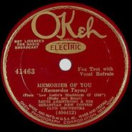 Louis Armstrong, Memories Of You / You're Lucky To Me