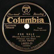 Clara Smith, For Sale (Hannah Johnson's Jack Ass) / You Dirty Dog
