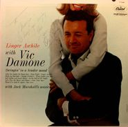 Vic Damone, Linger Awhile With Vic Damone [Autographed] (LP)