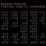 Broker/Dealer, Initial Public Offering (CD)