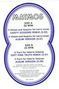 """Matmos, Steam And Sequins For Larry Levan (12"""")"""