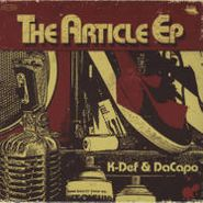 K-Def, The Article EP (CD)
