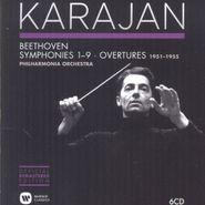 Ludwig van Beethoven, Symphonies 1-9 & Overtures -1951-1955 [Karajan Official Remastered Edition] (CD)