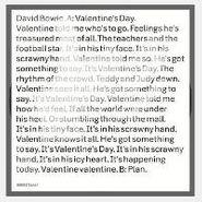 """David Bowie, Valentine's Day (7"""")"""