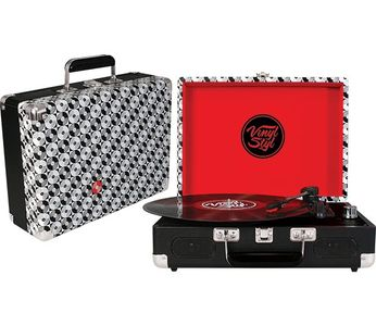 Vinyl Styl Groove Portable Turntable [Record Pattern]