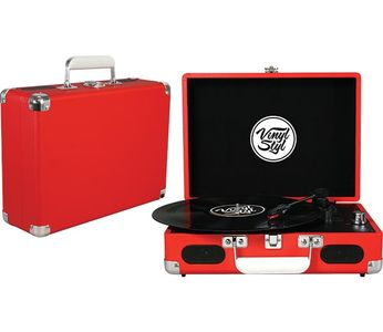 Vinyl Styl Groove Portable Turntable [Red]