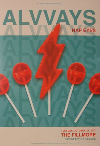 Alvvays - The Fillmore - October 24, 2017 (Poster)