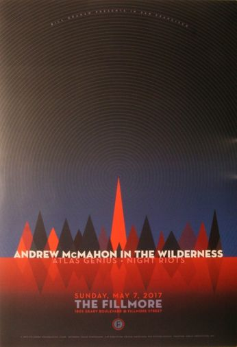 Andrew McMahon In The Wilderness - The Fillmore - May 7, 2017 (Poster)