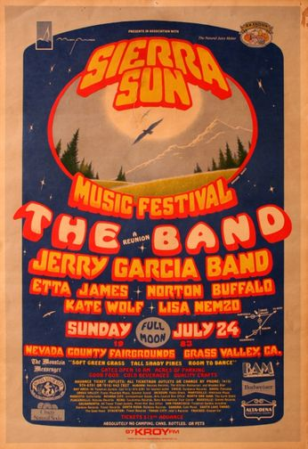 The Band / Jerry Garcia Band - Sierra Sun Music Festival - July 24, 1983 (Poster)