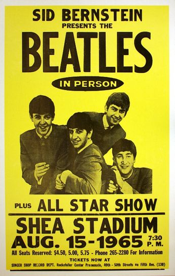 The Beatles - Shea Stadium - August 15, 1965 (Poster)