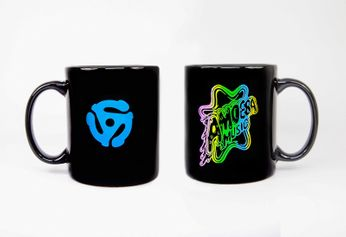 Amoeba Mug [Rainbow Logo on Black]