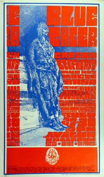 Blue Cheer - The Avalon Ballroom - July 27-30, 1967 (Poster)