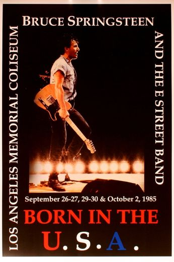 Bruce Springsteen - LA Memorial Coliseum - September 26-27, 29-30, & October 2, 1985 (Poster)