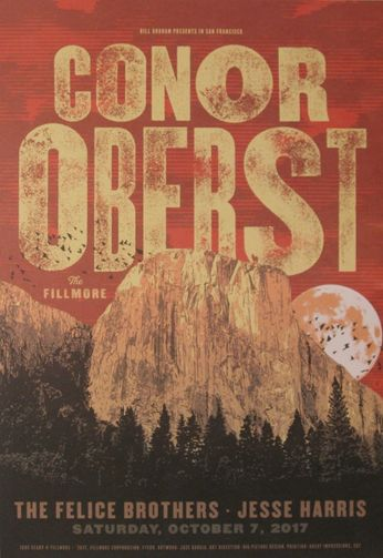 Conor Oberst - The Fillmore - October 7, 2017 (Poster)
