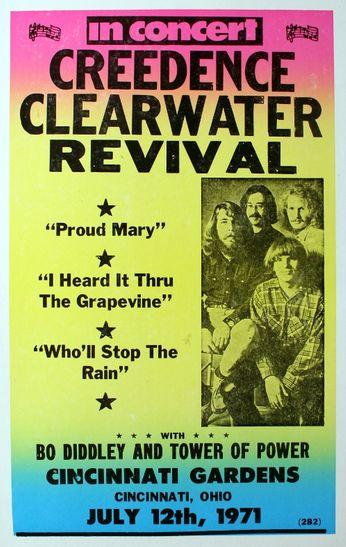 Creedence Clearwater Revival Cincinnati Gardens July
